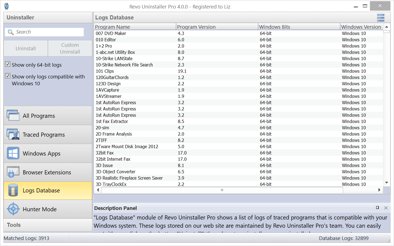 Logs Database
